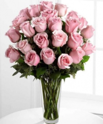 24 Pink Roses - Anniversary flowers